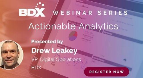 Webinar Series: Actionable Analytics