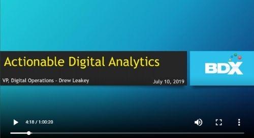 WEBINAR: Actionable Analytics