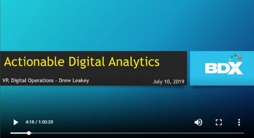 WEBINAR: Actionable Analytics