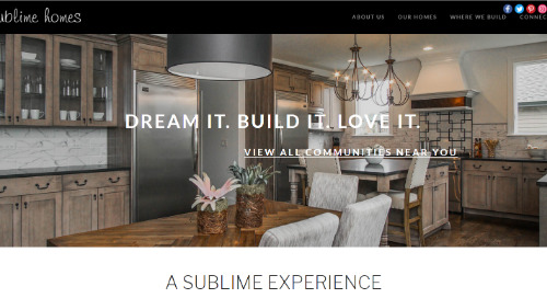 Sublime Homes Celebrates Their New Community Showing Up On Google