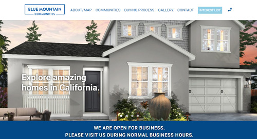 Builders Doing Amazing Things – Blue Mountain Communities Improves Online Advertising CTR's