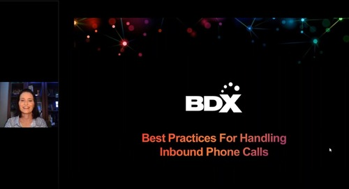 Recorded Webinar: Best Practices For Handling InBound Phone Calls