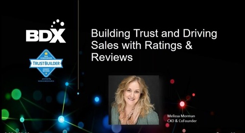 Recorded Webinar: Building Trust And Driving Sales With Ratings & Reviews