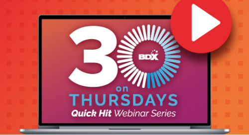 Quick Hit Webinar Series: Thirty On Thursdays