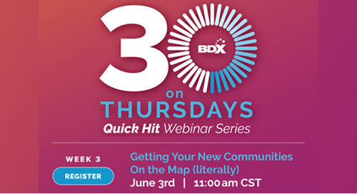 Recorded Webinar: Get Your New Communities On The Map