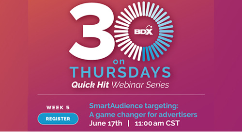 Upcoming Webinar 6/17: Smart Audience Targeting -- A Game Changer For Advertisers