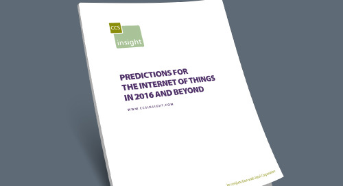 Predictions for 2017 and Beyond: The Internet of Things
