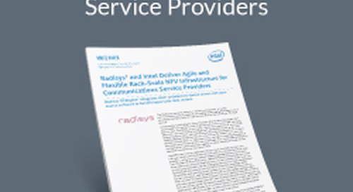 Radisys and Intel Deliver Agile and Flexible Rack-Scale NFV Infrastructure for Communications Service Providers