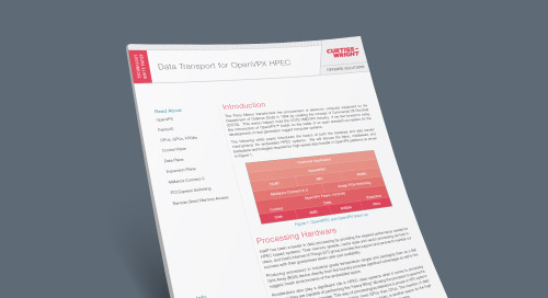 Data Transport for OpenVPX HPEC