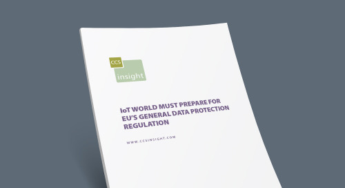 IoT World Must Prepare for EU's General Data Protection Regulation