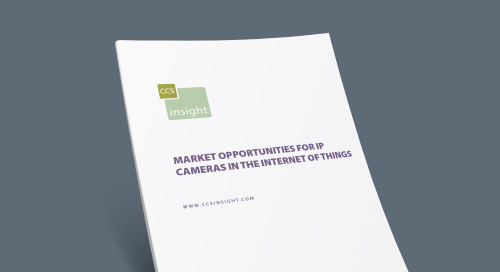 Market Opportunities for IP Cameras in the Internet of Things