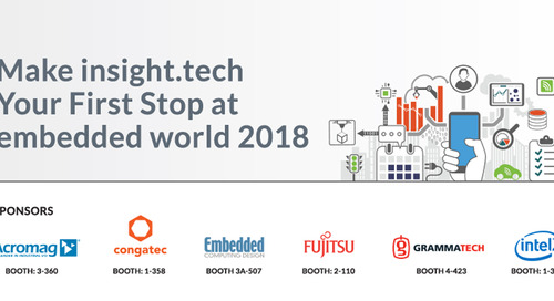 insight.tech Is Coming to embedded world 2018
