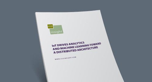 IoT Drives Analytics and Machine Learning Toward a Distributed Architecture