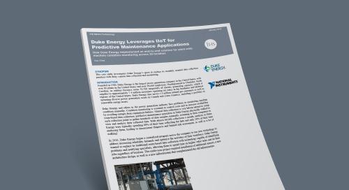Duke Energy Leverages IIoT for Predictive Maintenance Applications