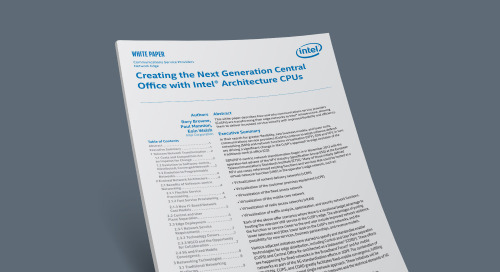 Creating the Next-Generation Central Office with Intel Architecture CPUs