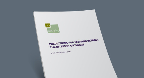 Predictions for 2019 and Beyond: The Internet of Things
