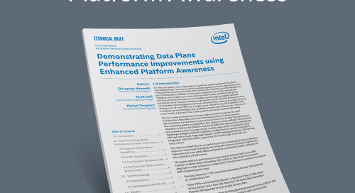 Boost Data Plane Performance With Enhanced Platform Awareness