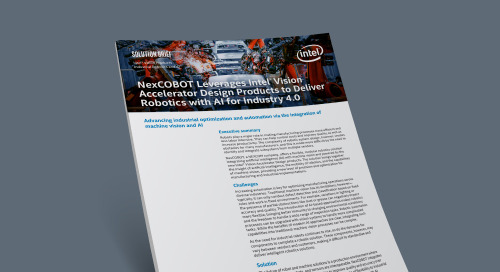 NexCOBOT Leverages Intel® Vision Accelerator Design Products to Deliver Robotics with AI for Industry 4.0