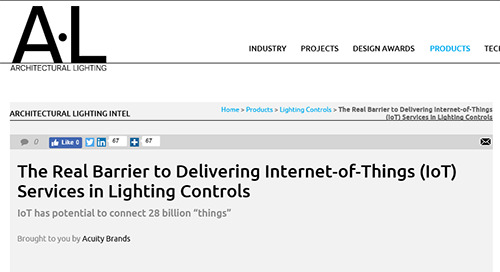 The Real Barrier to Delivering Internet-of-Things (IoT) Services in Lighting Control