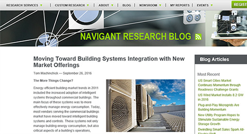 Moving Toward Building Systems Integration with New Market Offerings