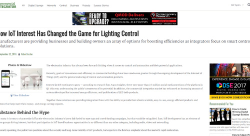 How IoT Has Changed the Game for Lighting Control