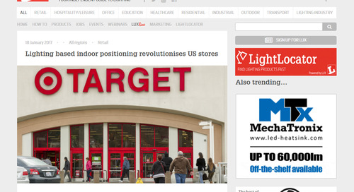 Lighting Based Indoor Positioning Revolutionises US Stores