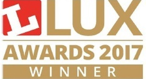 Exterior Luminaire of the Year Lux Awards 2017 - CityMax WINS!