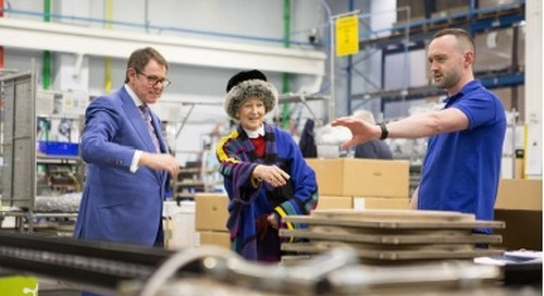 HRH Princess Alexandra visits Holophane Europe Ltd