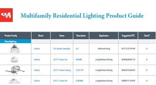 Product Guide Makes It Easy to Choose Multifamily Residential Lighting