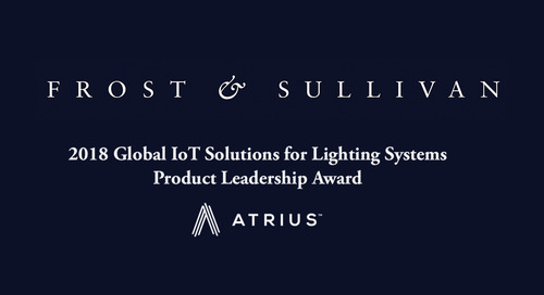 Frost and Sullivan Product Leadership Award for Atrius
