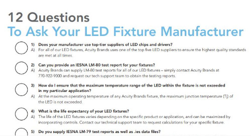 12 Questions to ask your Manufacturer