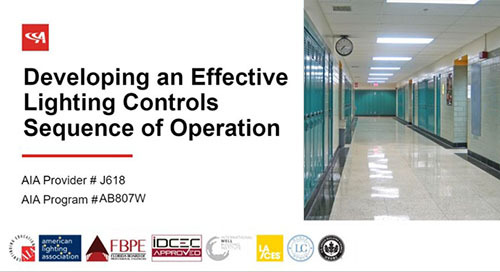 AIA Training Course: Developing an Effective Lighting Controls Sequence of Operation