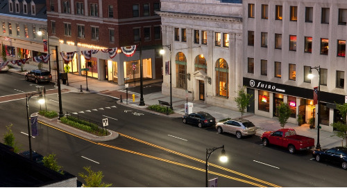 Pittsfield selects Holophane Tear Drop luminaires to revitalize downtown area