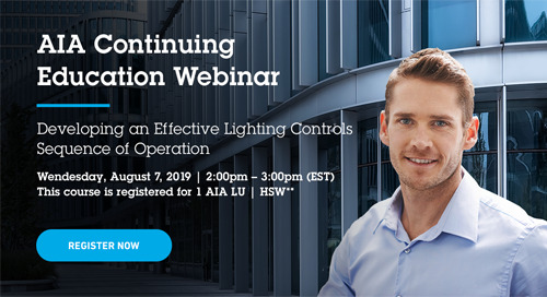 AIA Webinar: Developing an Effective Lighting Controls Sequence of Operation