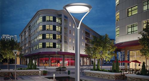 RADEAN™ LED Pedestrian Luminaire Family for Design-Inspired Landscape™