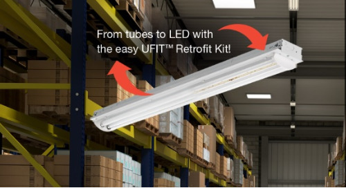 UFIT Fits! Easily Upgrade Industrial Low Bay or Strip Light to LED