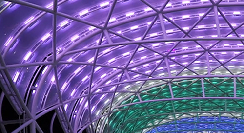 Canopy Light Show at Hartsfield-Jackson Atlanta International Airport