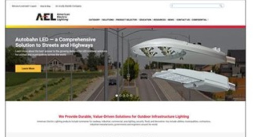 New American Electric Lighting (AEL) Website Offers Enhanced Tools to Help Utility, Municipality and DOT Customers Specify Lighting Solution