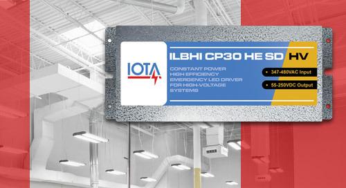 Introducing IOTA® Emergency Drivers for 347-480VAC