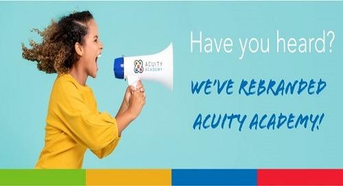 Acuity Academy Rebrand