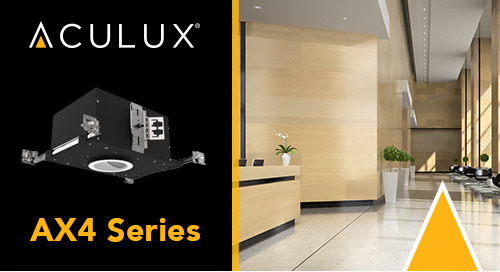 "Introducing our NEWLY enhanced 4"" Downlight from Aculux: Uniformly Performing"
