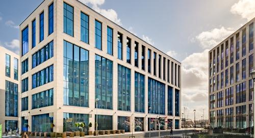 Deux bâtiments à Wellington Place - Leeds, Angleterre