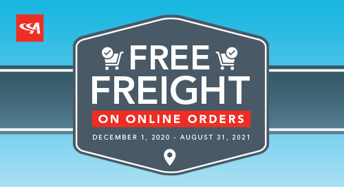 Free Freight on ADC Online Orders Extended
