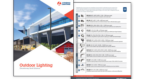 NEW! Lithonia Lighting® Outdoor Discretionary Stock Solutions Guide