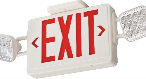 Introducing the new Lithonia Lighting® Basics™ EXRG and ECRG Red / Green Switchable Exit Signs and Combos