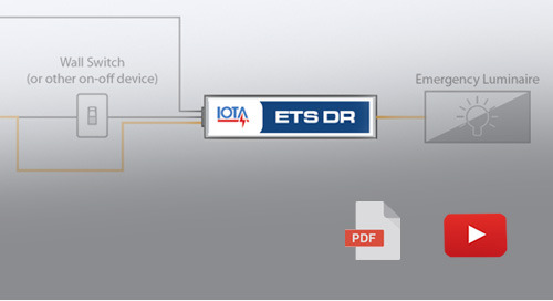 How the IOTA® ETS DR allows the use of local fixture control on emergency power systems.