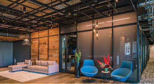 Versatile lighting is by design for contemporary urban-inspired office