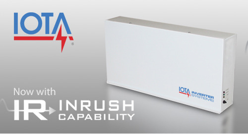 IOTA® IIS 125 Mini Inverter Now Features Increased Inrush Capacity