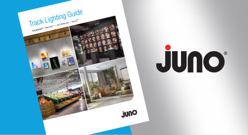 NOW Available - the NEW Juno® Trac Lighting Product Guide!