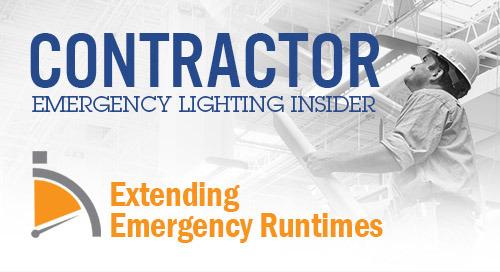 Extending Runtimes for Emergency Lighting Applications
